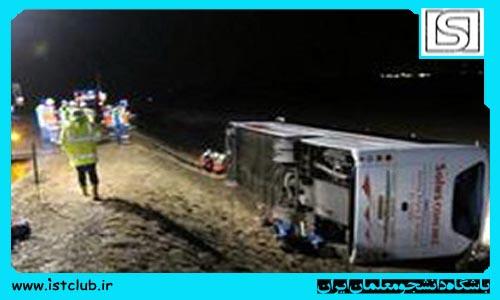 عیادت مدیرکل دفتر وزارتی از دانش آموزان سانحه اتوبوس واژگون شده